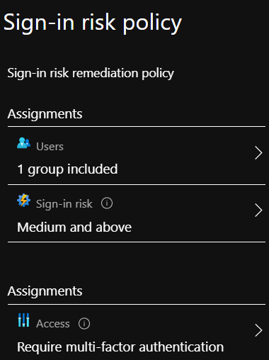 Sign-in Risk Policy Example