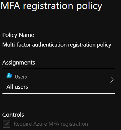 MFA Registration Policy Example