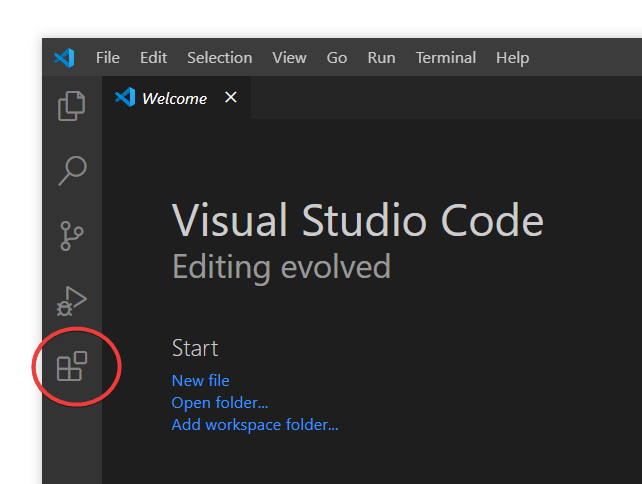 The sidebar in Visual Studio Code