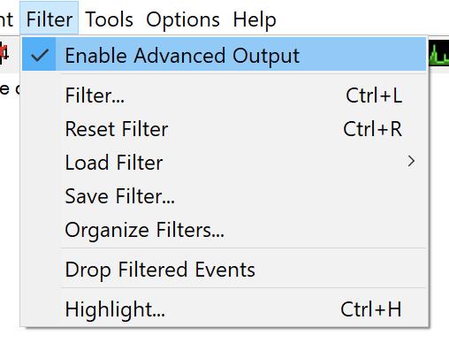 Enable Advanced Output