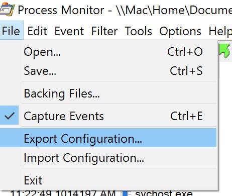 Export Configuration