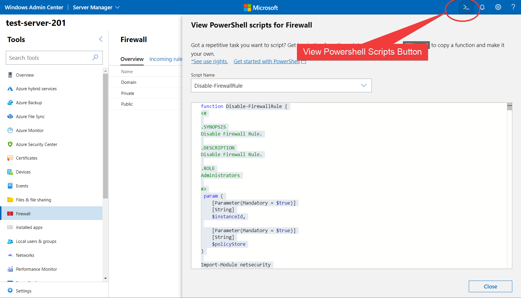Viewing the Underlying PowerShell in the backend