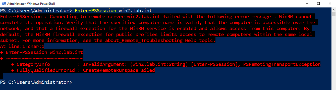 Failed WinRM connection due to wrong port