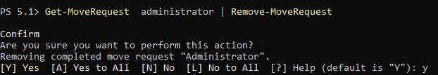 Removing a Move Request