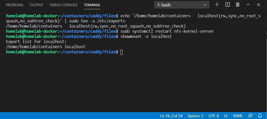 Creating a NFS share in Ubuntu 20.04