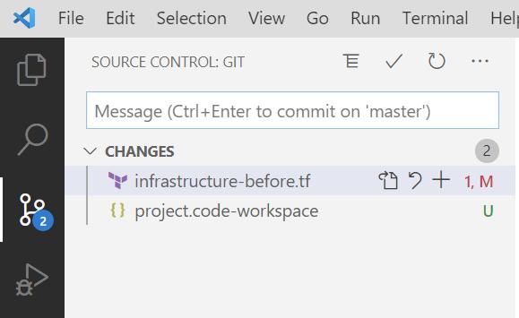 VS Code Git change labels