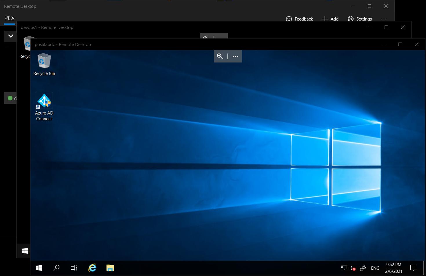 Microsoft Remote Desktop multiple windows view