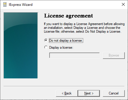 Adding an End User License Agreement