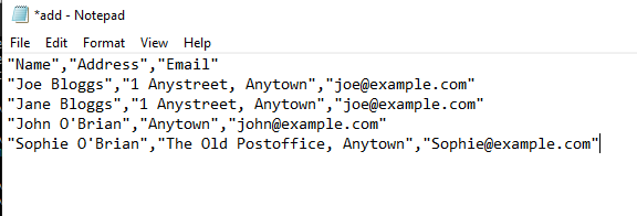Export-CSV created file opened in Notepad.