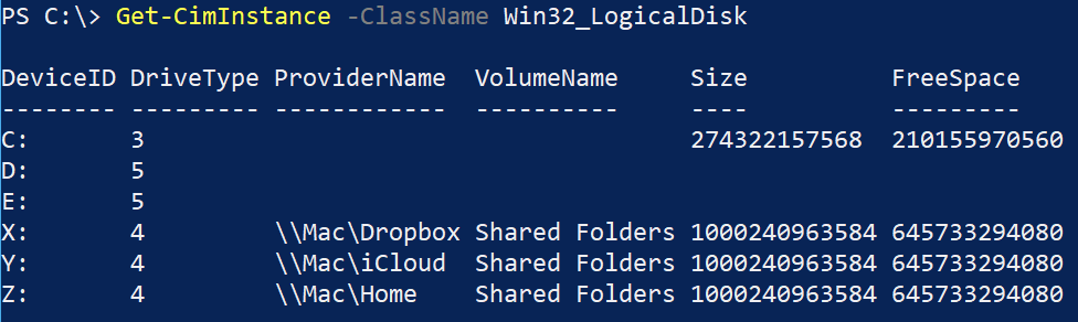 Querying storage volumes with Get-CimInstance