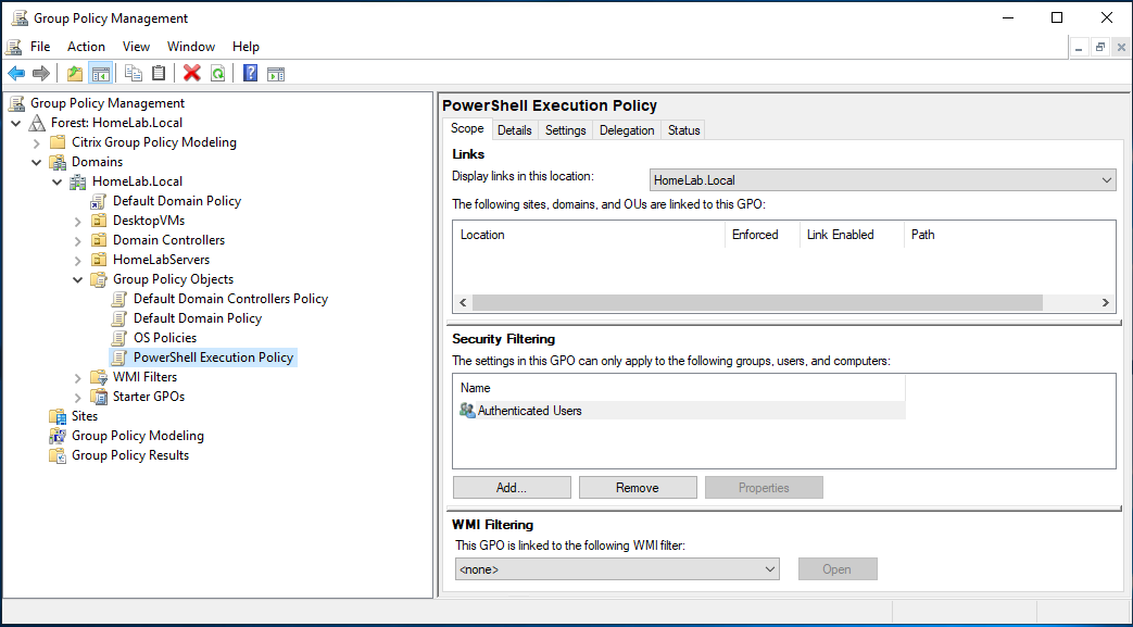 Create new Group Policy Object