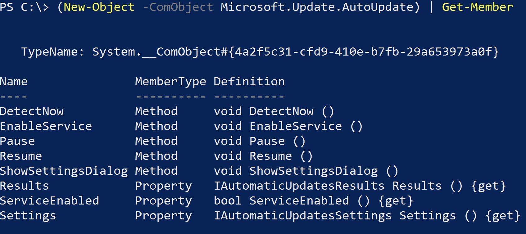 AutoUpdate COM object