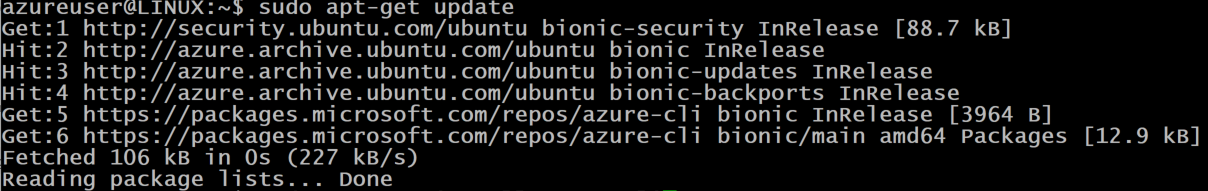 Azure CLI Package