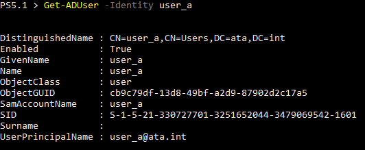 Finding an Active Directory User