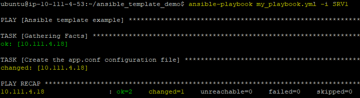 You should then see Ansible execute the playbook.