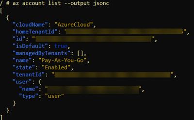 jsonc output