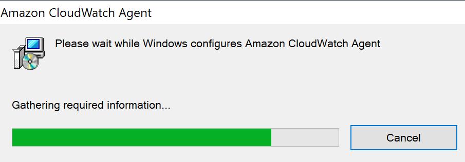 Windows Installer window showing installation progress.