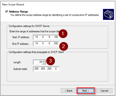 Configure the IP Address Range