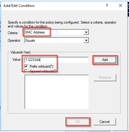 Add condition for DHCP policy