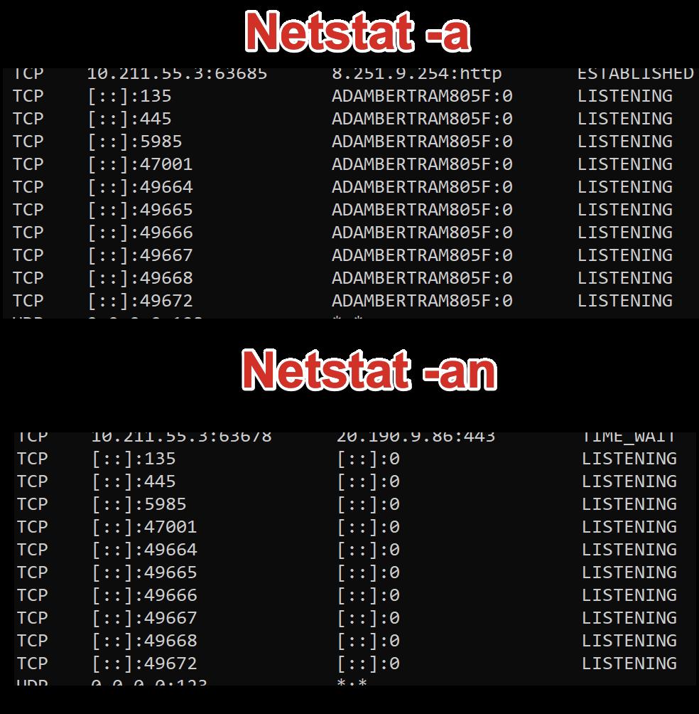 run netstat -an