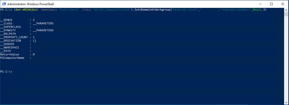 Get-WMIObject command output
