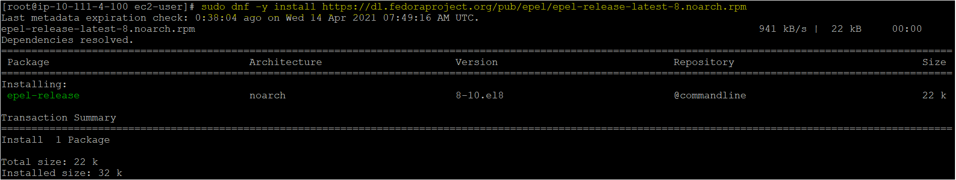 Addition of EPEL repository