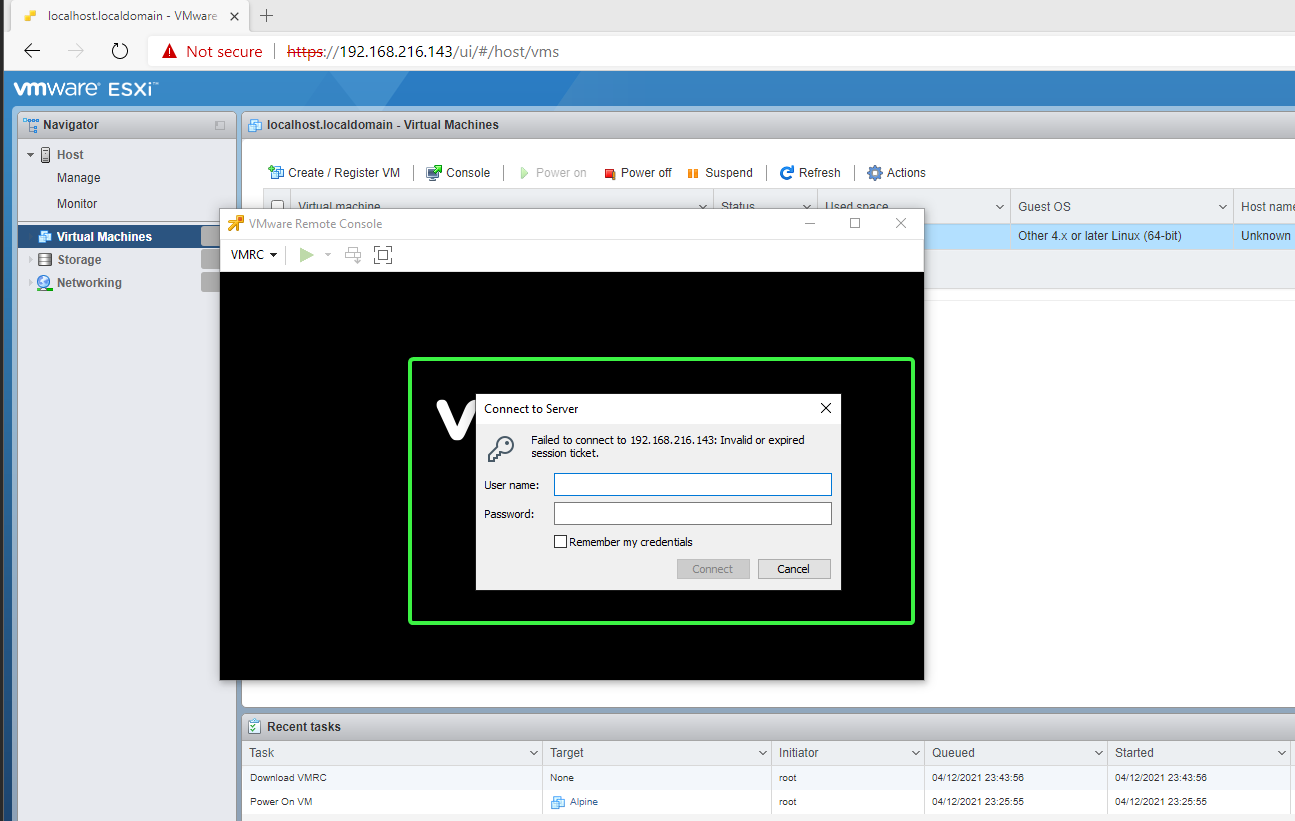 Connecting to remote VM host (not guest)