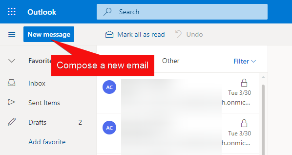 Composing New Email