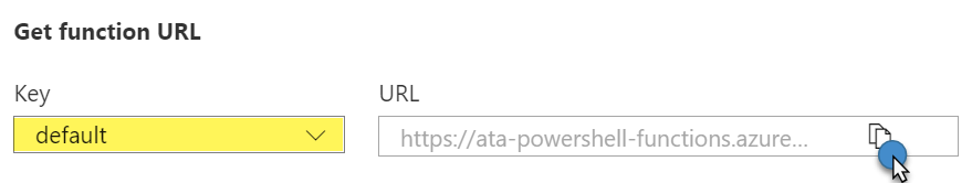 Copying the URL to the clipboard
