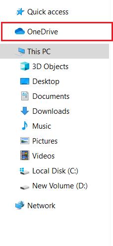 File Explorer Side Menu