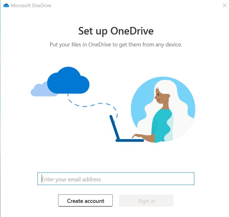 Enter Microsoft/OneDrive credentials