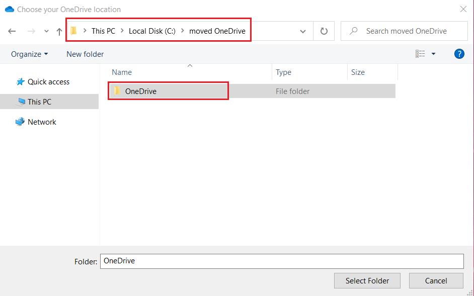 Navigate new folder to configure