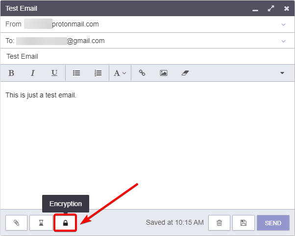 Encrypting an Email