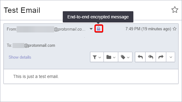 Receiving Automatically Encrypted Email From ProtonMail