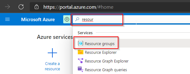 Open the Resource Groups blade.