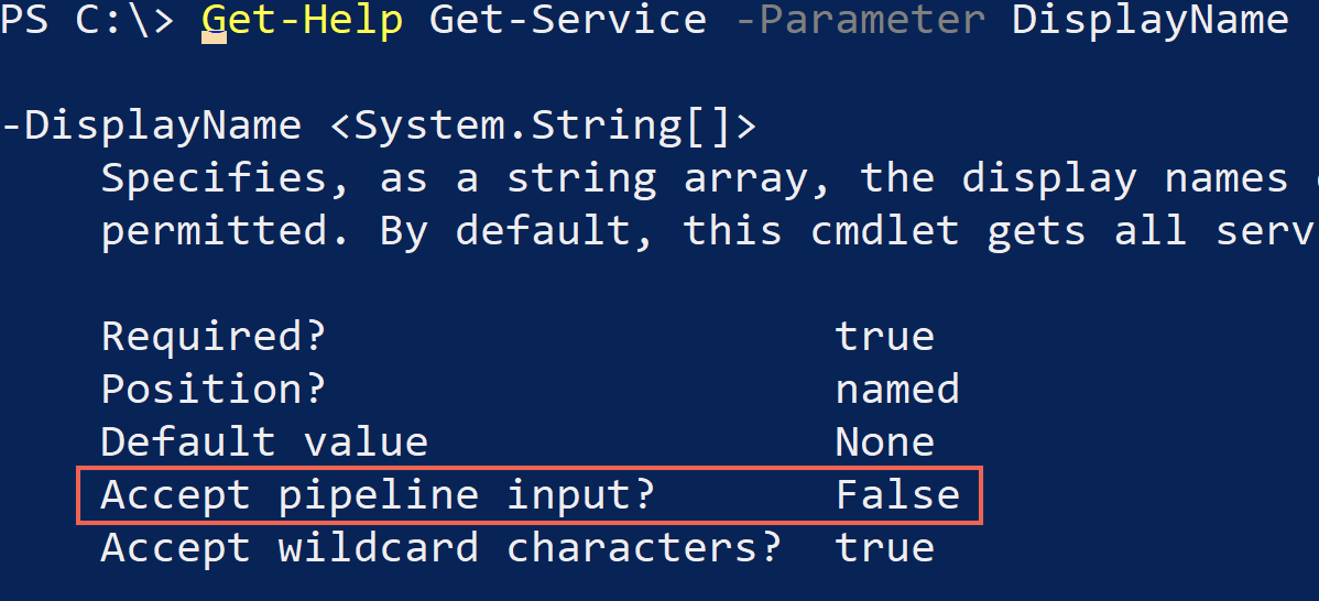 PowerShell pipeline input is not allowed