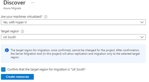 Set target region for resources