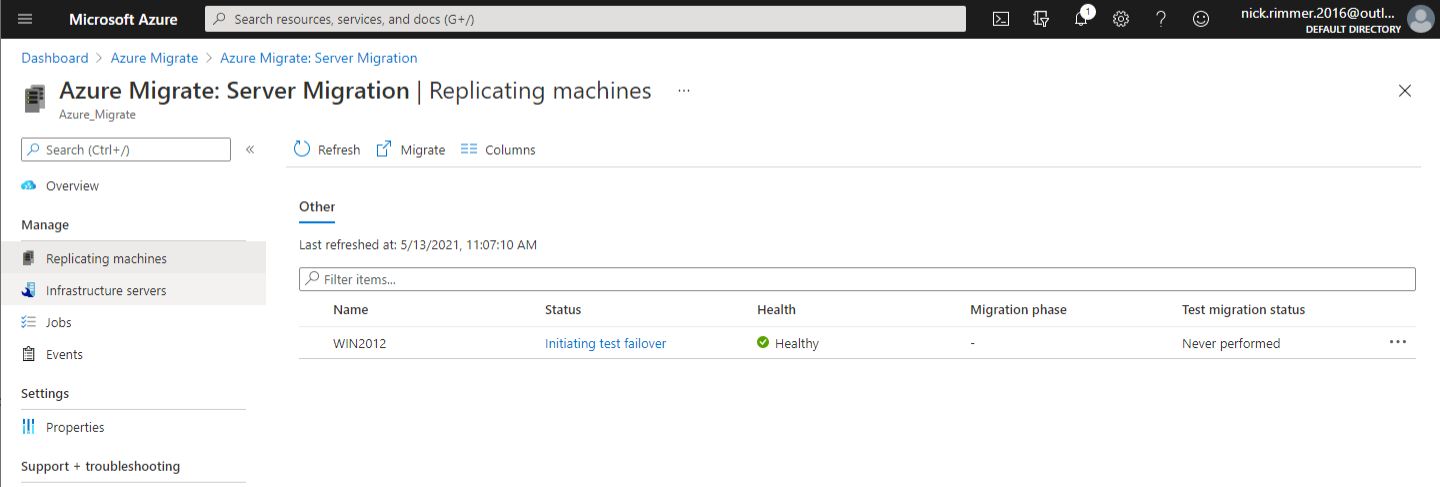 Replicating machines management page