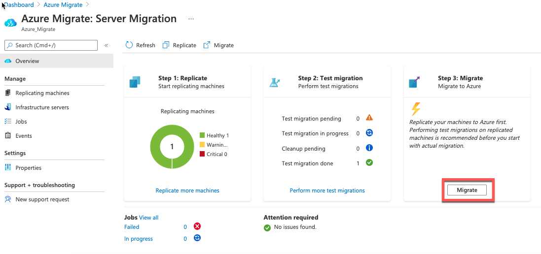 Selecting live migration