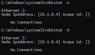 Displaying NetBIOS Sessions