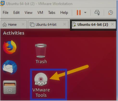 click on Install VMware Tools