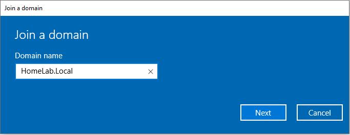 Domain Name dialog box