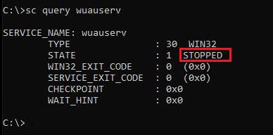 Starting wuauserv service