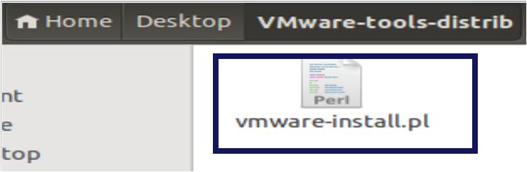 Perl Script inside the VMWare-tools-distrib folder