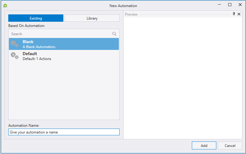 New Automation Interface