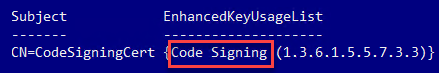 Verifying the certificate is valid for code signing