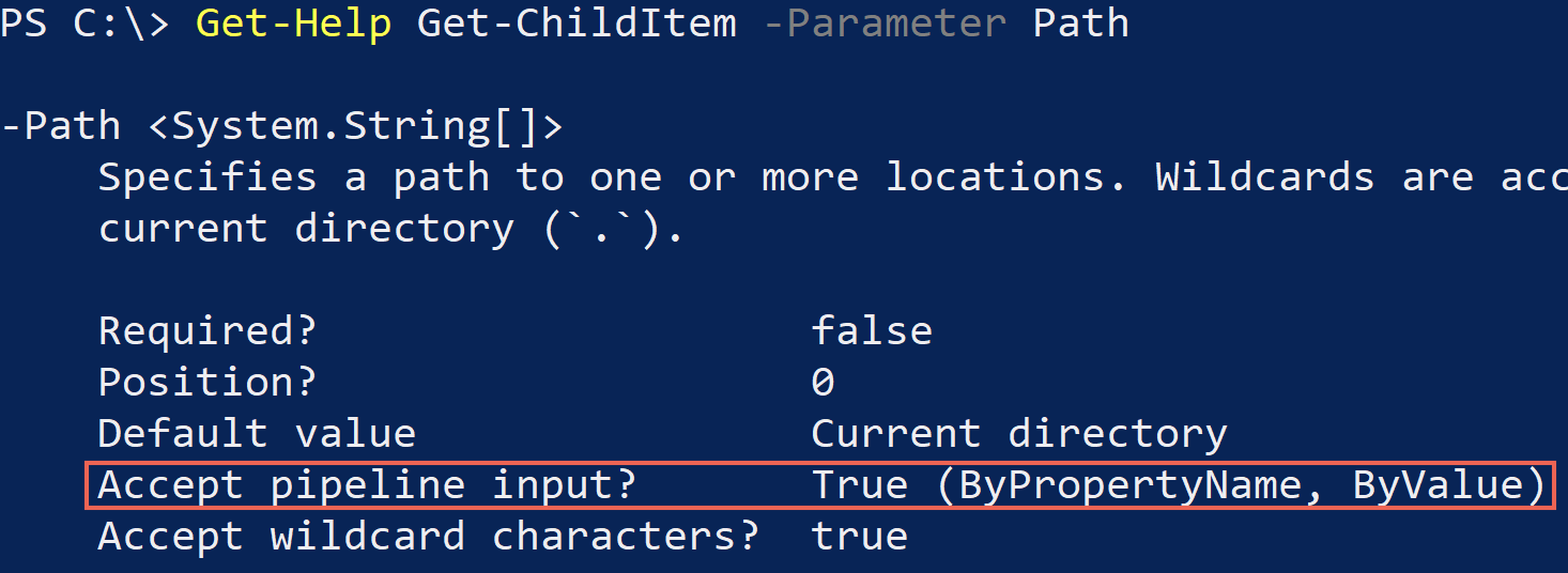 PowerShell pipeline input is allowed
