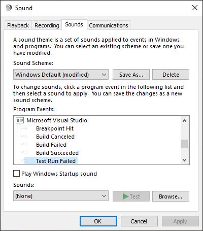Windows 10 Audio Dialog