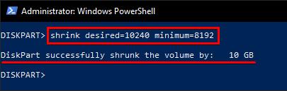 Shrinking Volume