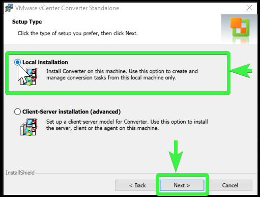 VMware vCenter Converter Standalone setup 5/9
